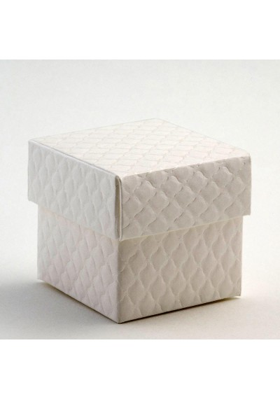Trapunta Square Box and Lid Favour Box-10pk