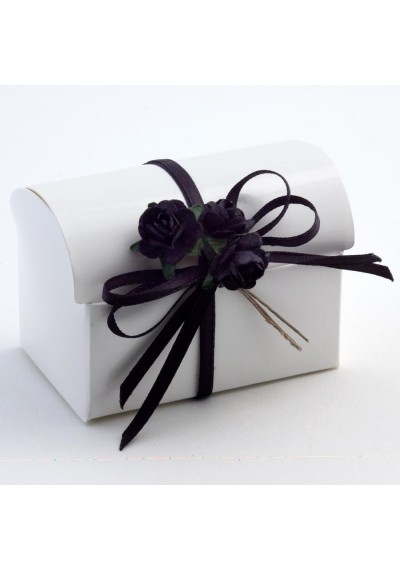 White Glossy Cofanetto Favour Box-10pk